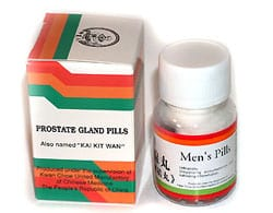 Chinese herbs prostate problems